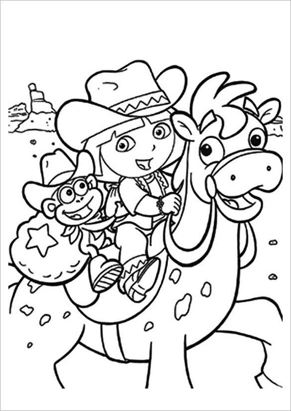 dora sketch for coloring dora drawing pictures at getdrawings free download coloring for dora sketch