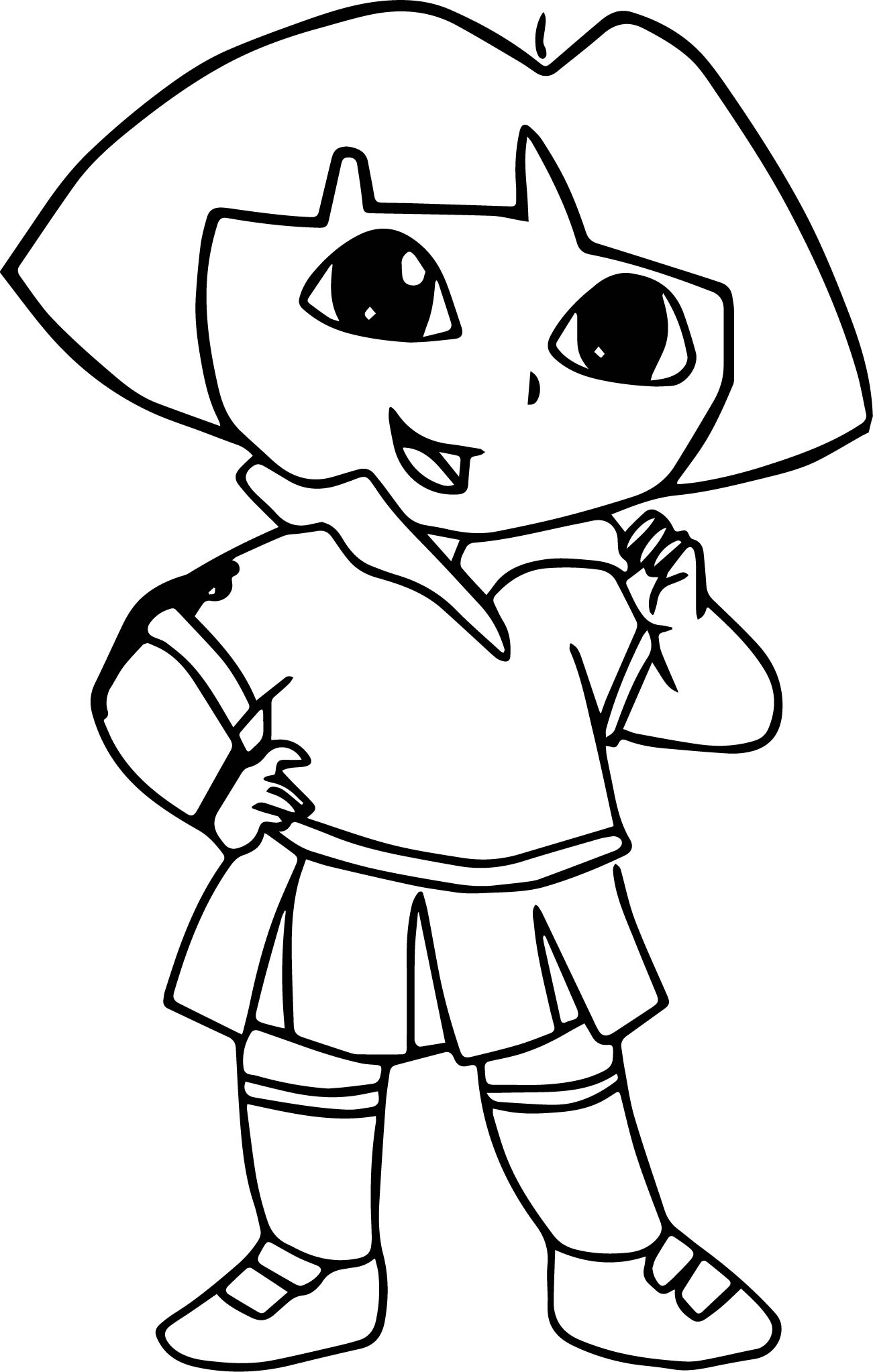 dora sketch for coloring dora drawing pictures at getdrawings free download dora for coloring sketch