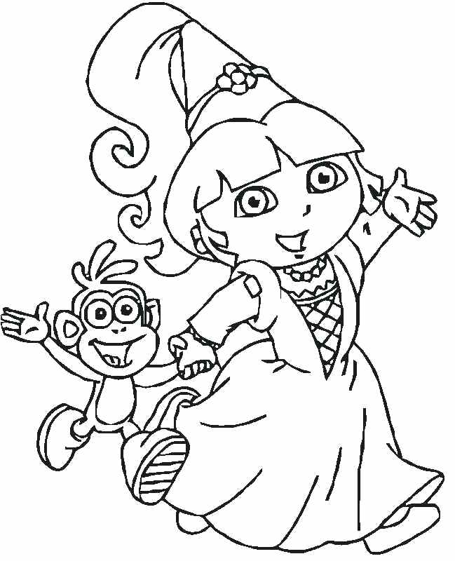 dora sketch for coloring dora drawing pictures at getdrawings free download dora for sketch coloring