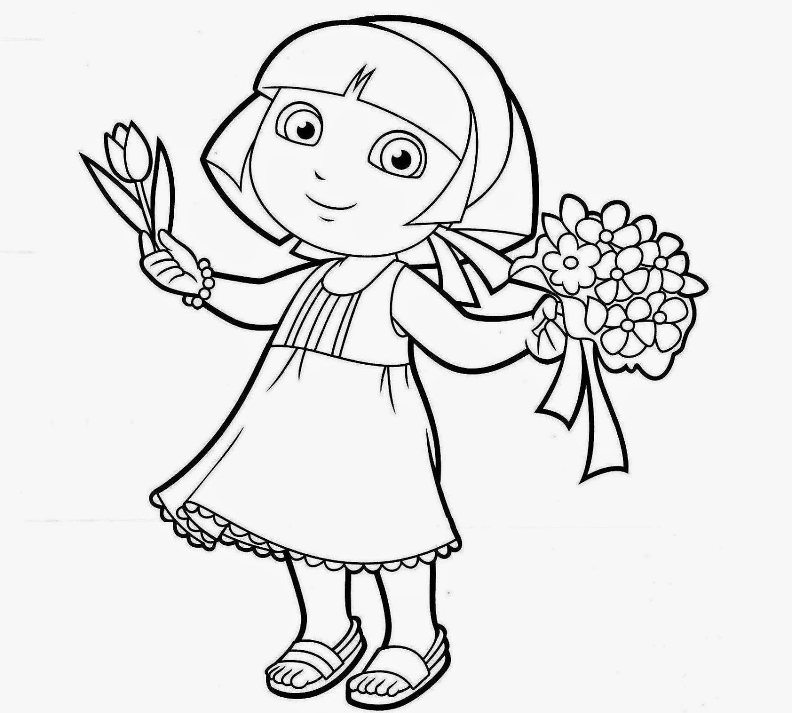 dora sketch for coloring dora drawing pictures at getdrawings free download sketch dora for coloring