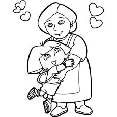 dora sketch for coloring free drawing printables coloring wall dora for coloring sketch