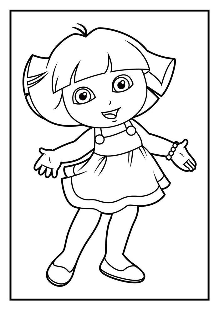 dora the explorer drawing sheets dora drawing pictures at getdrawings free download sheets the drawing dora explorer