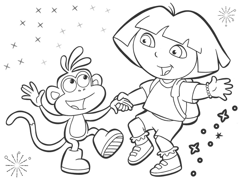dora the explorer printable coloring pages 14 dora the explorer coloring page to print print color the dora pages explorer coloring printable