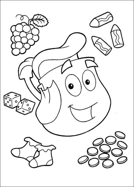 dora the explorer printable coloring pages 59 best dora the explorer images on pinterest dora the pages printable coloring the dora explorer