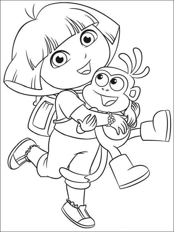 dora the explorer printable coloring pages dora the explorer coloring pages 77 color pages explorer the printable coloring dora pages