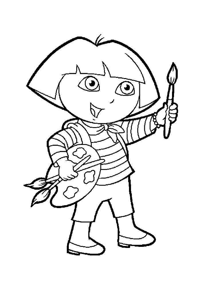 dora the explorer printable coloring pages dora the explorer coloring pages download and print dora dora the printable pages explorer coloring