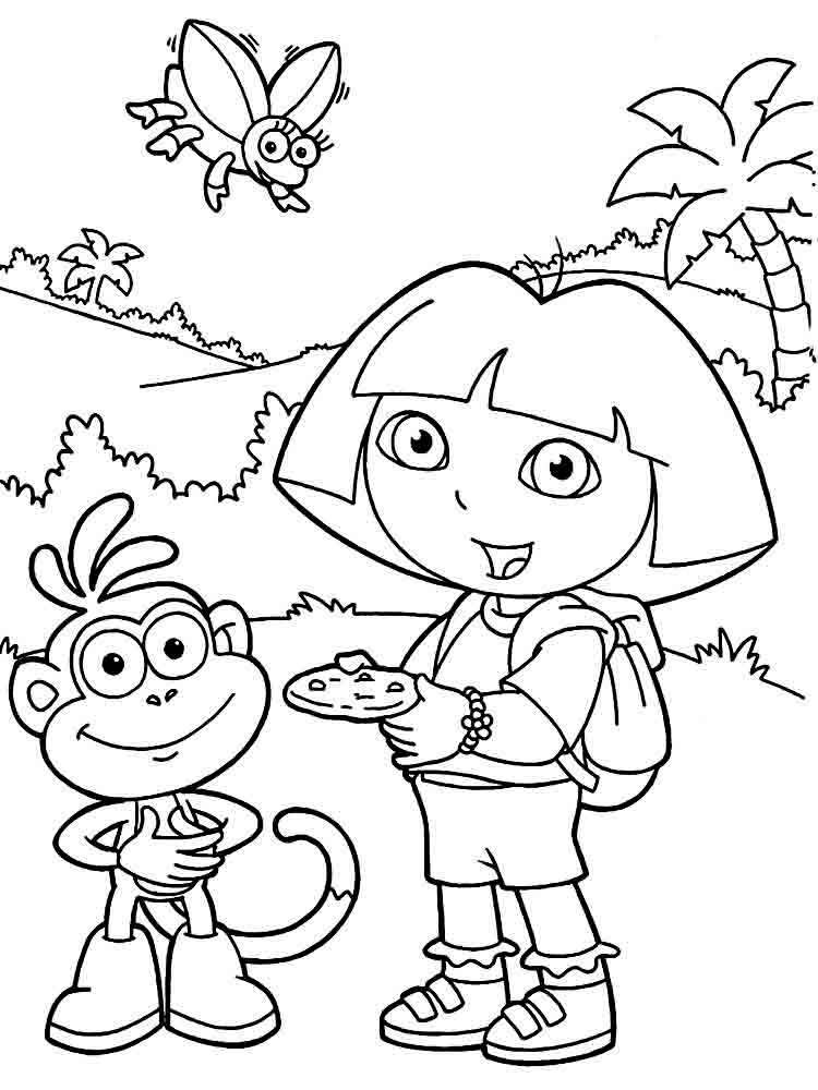 dora the explorer printable coloring pages dora the explorer coloring pages download and print dora the pages dora explorer printable coloring