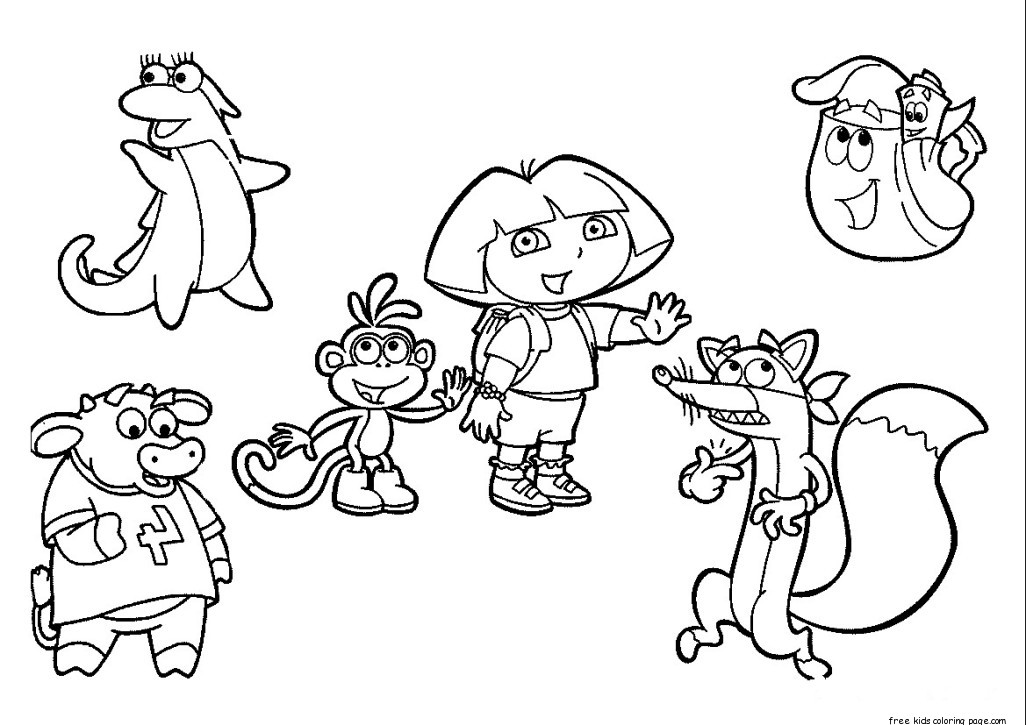 dora the explorer printable coloring pages dora the explorer coloring pages free to printfree printable dora coloring pages the explorer