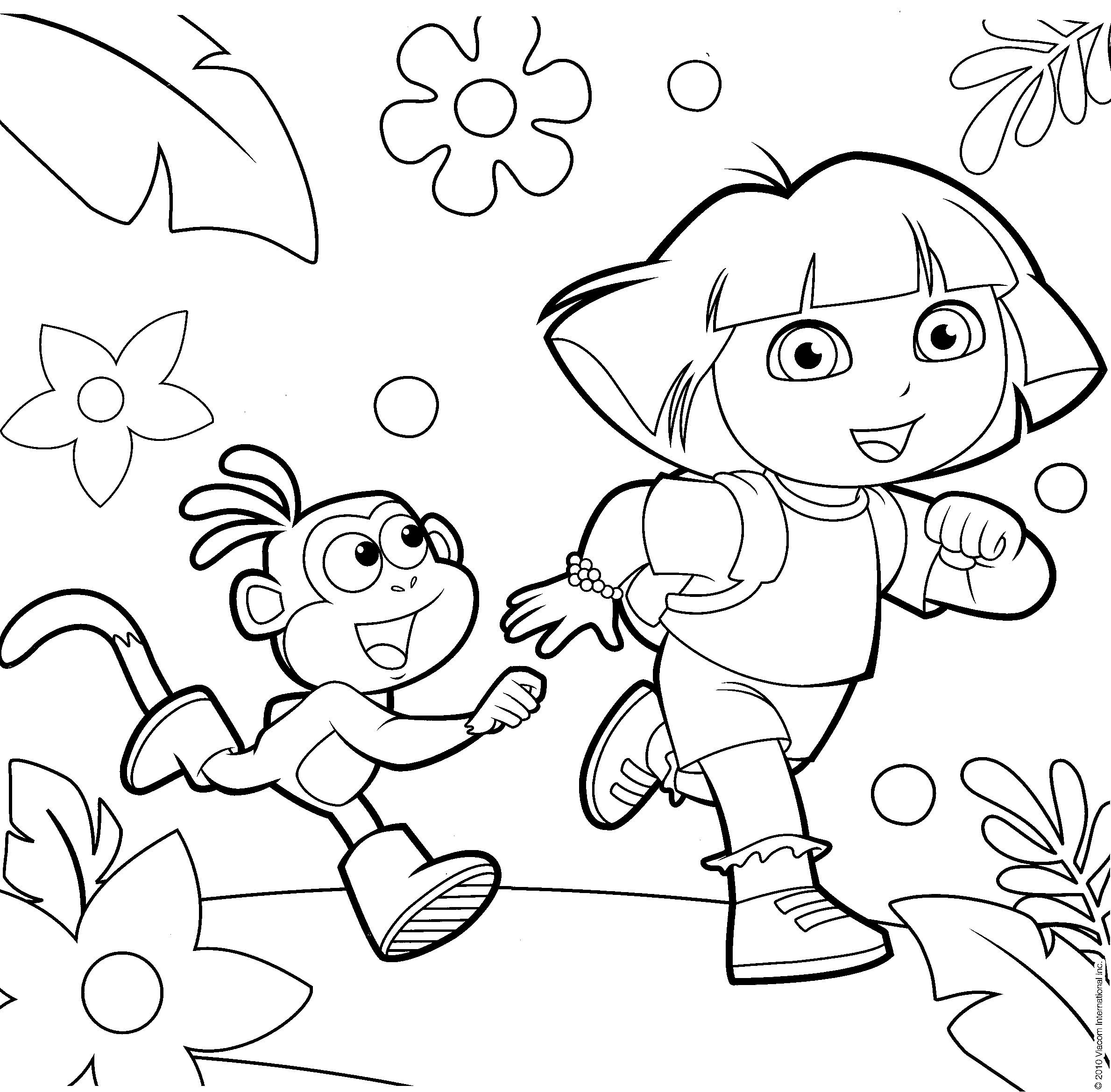dora the explorer printable coloring pages free printable dora the explorer coloring pages for kids dora pages coloring the printable explorer
