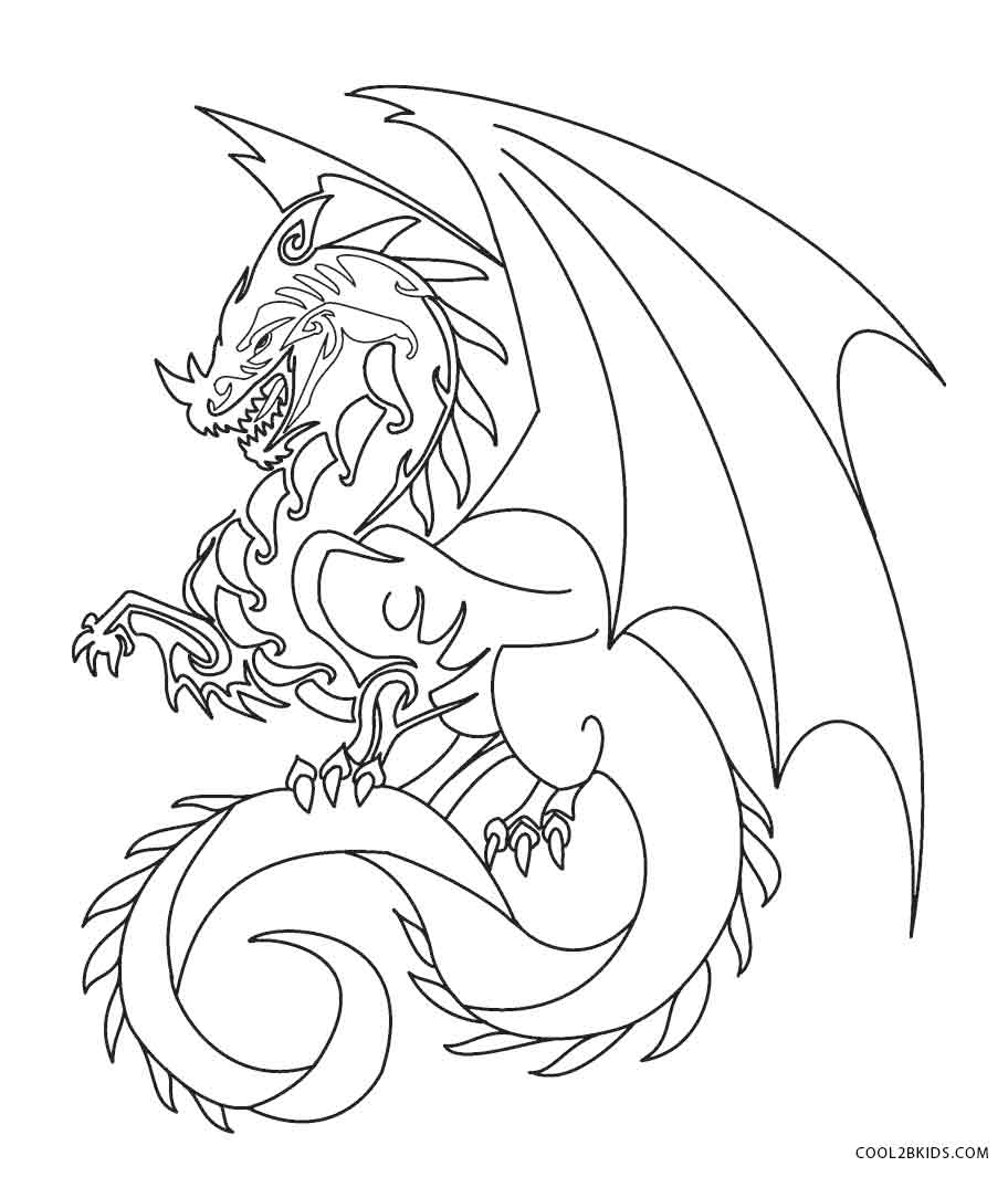 Dragon colouring in pictures