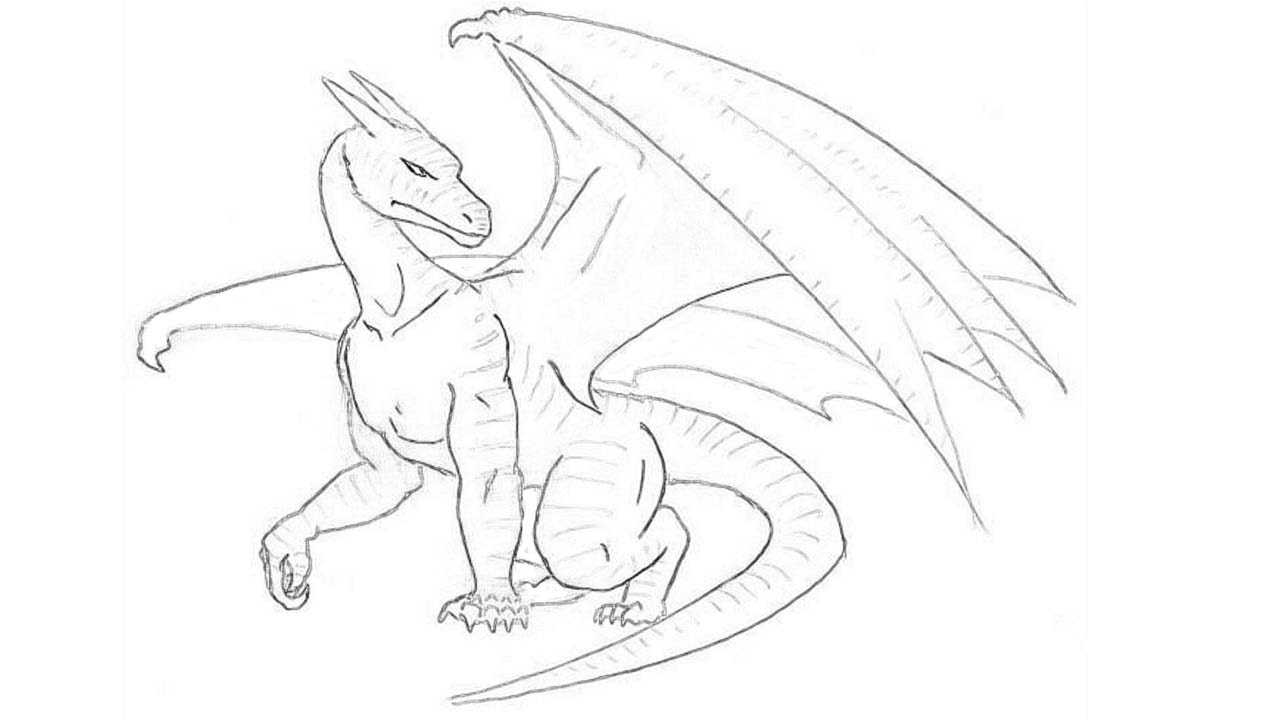 dragon drawing easy cute and simple dragon lineart f2u by saltandspice on dragon drawing easy