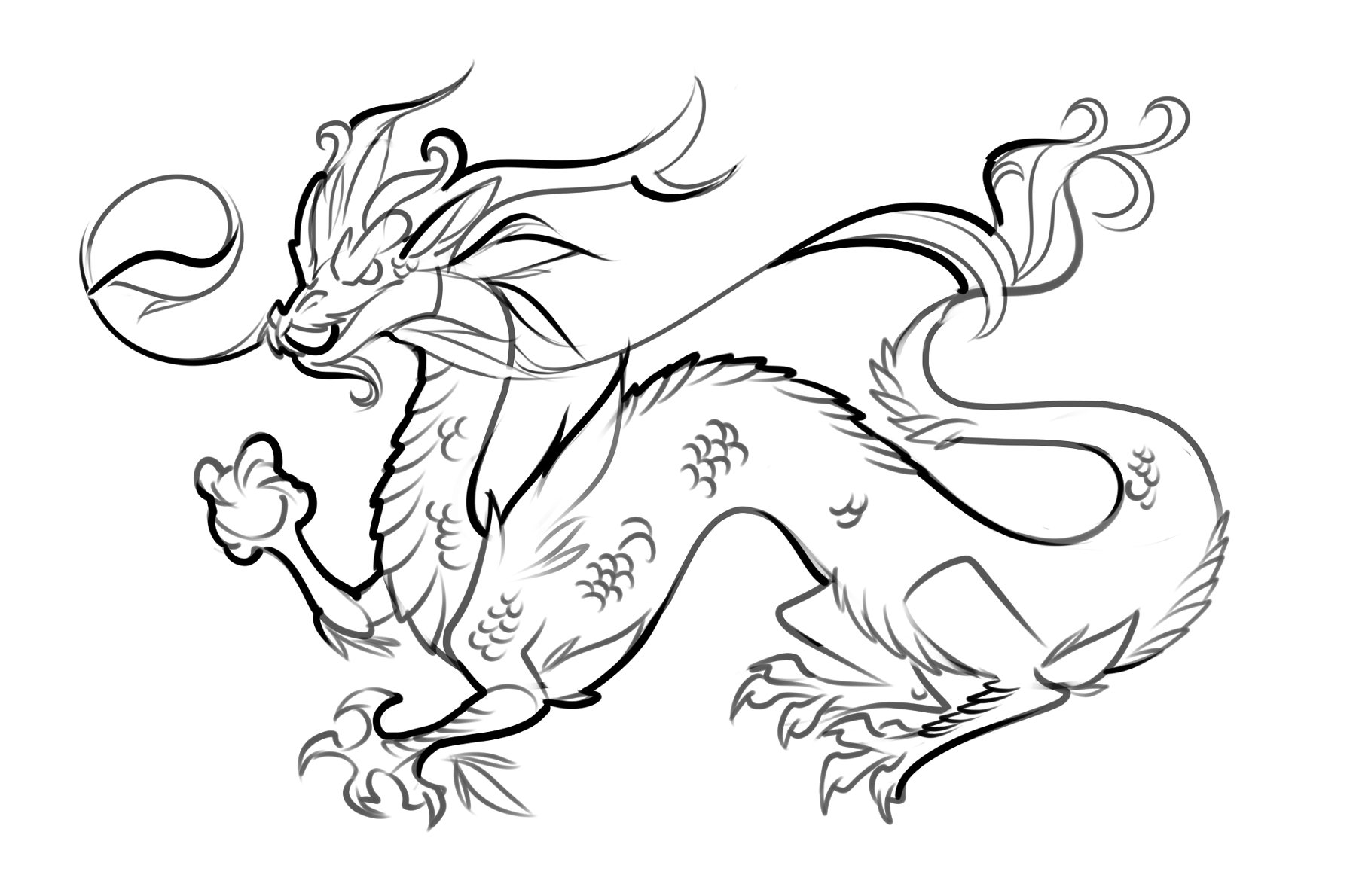 dragon drawing easy tribal drawing step by step at getdrawings free download easy dragon drawing