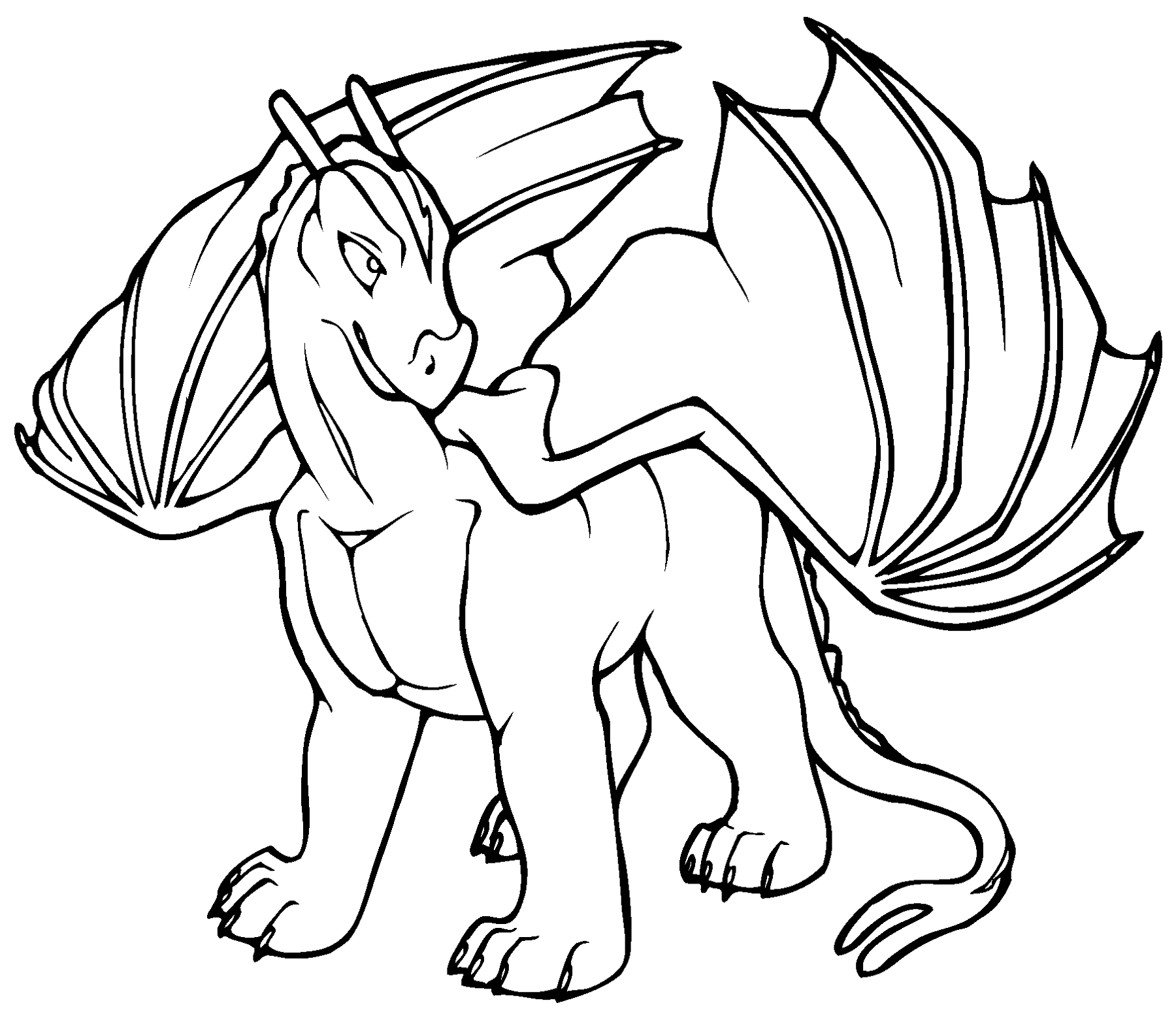 Dragon pictures to color and print