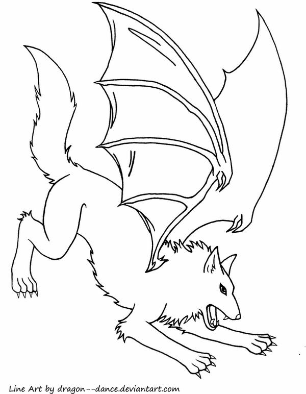 dragon wolf coloring pages demon wings drawing at getdrawings free download pages dragon coloring wolf