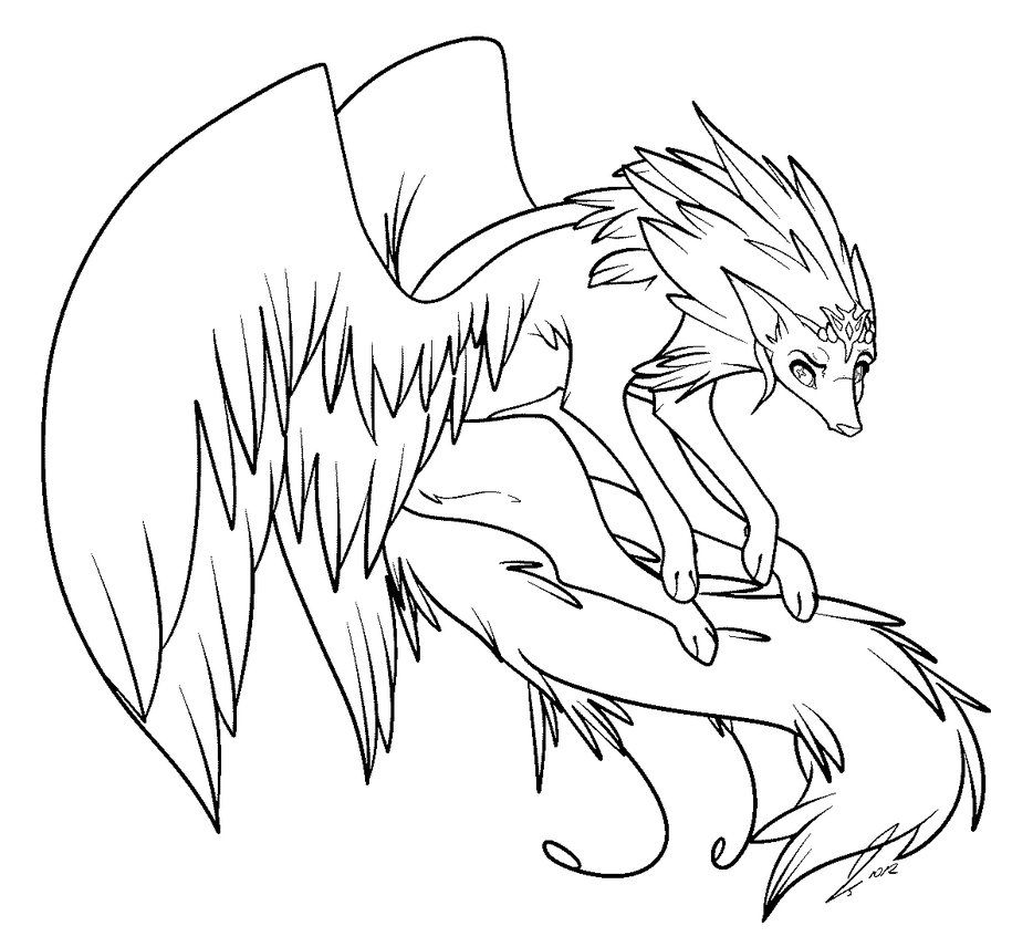 dragon wolf coloring pages dragon wolf adopt lineart ms paint by airborncanine on wolf coloring dragon pages