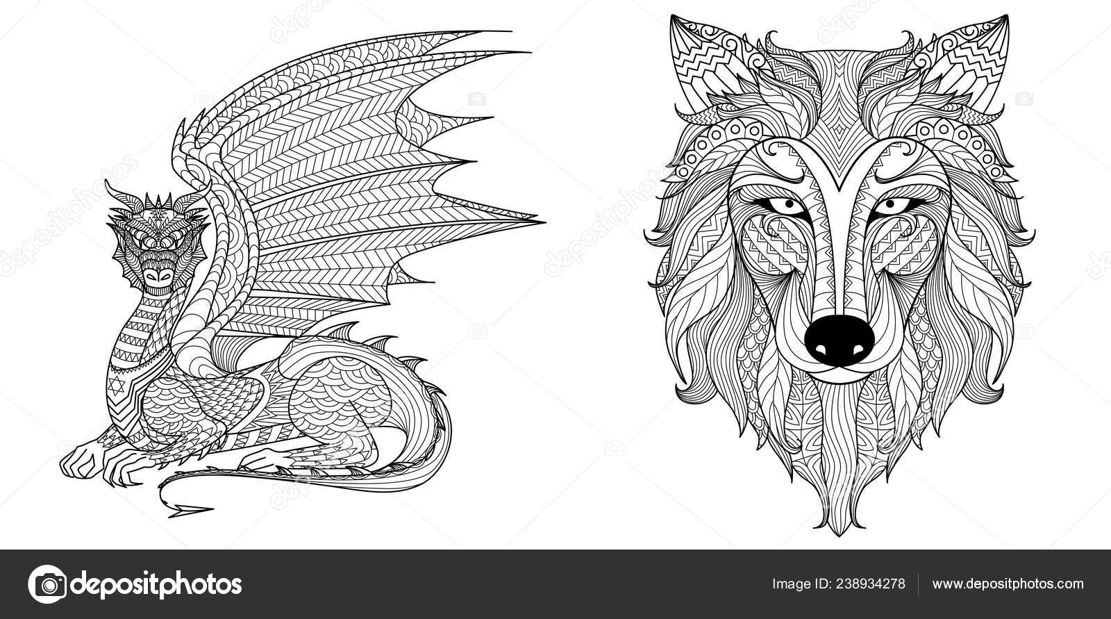 dragon wolf coloring pages free wolf dragon line art by wildlorecreatures on deviantart wolf pages dragon coloring