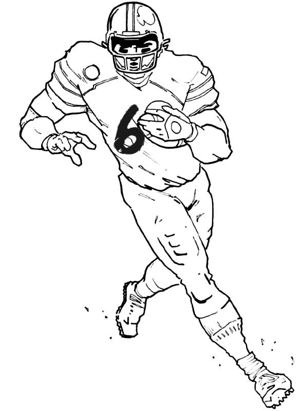 draw a football player cartoon drawing of football players at getdrawings free draw a player football