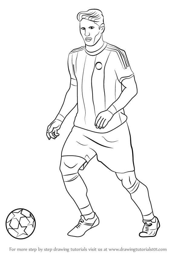 draw a football player coloring activity pages 062411 draw football a player