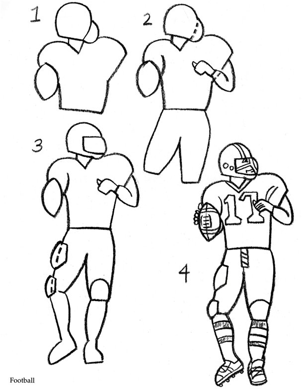 draw a football player drawing of football players free download on clipartmag a player draw football