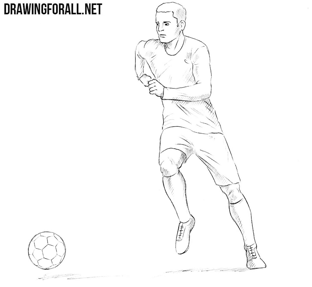 draw a football player drawing of football players free download on clipartmag football player a draw