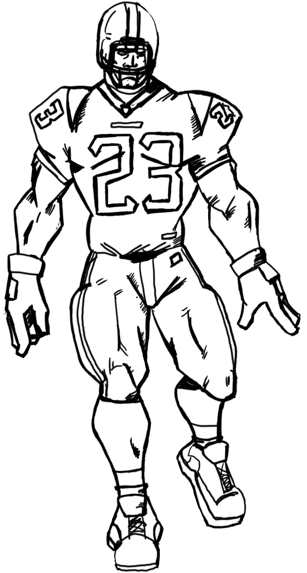 Draw a football player