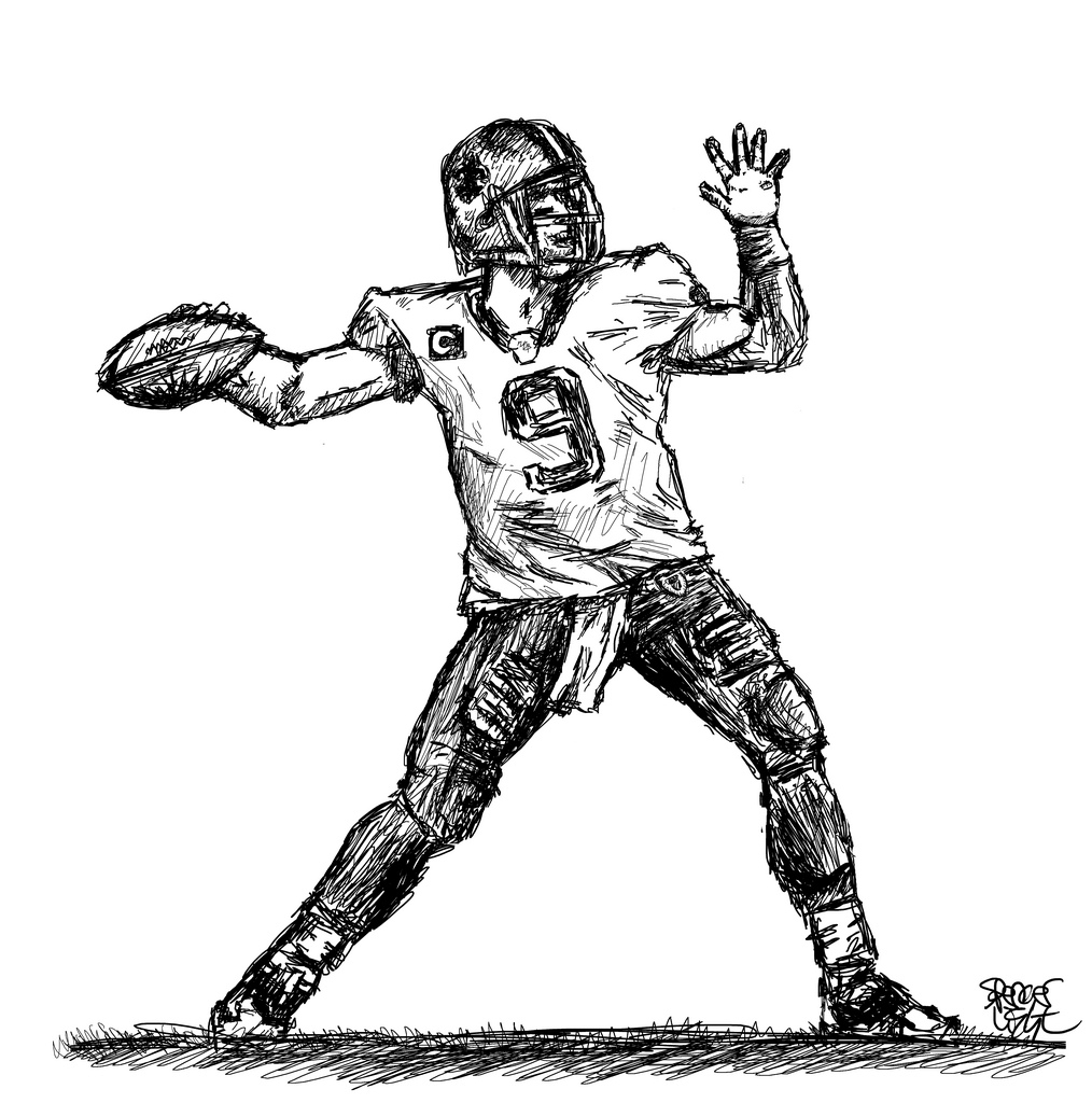 draw a football player football player drawing at getdrawings free download player football a draw