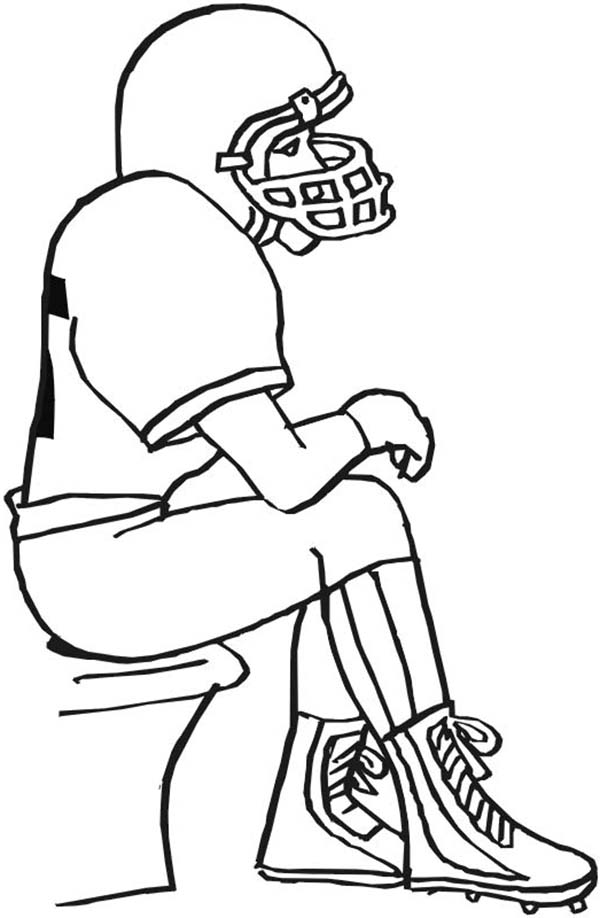 draw a football player football player drawing clipartsco a draw football player