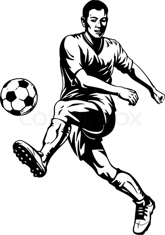 draw a football player football player drawing free download on clipartmag football player a draw