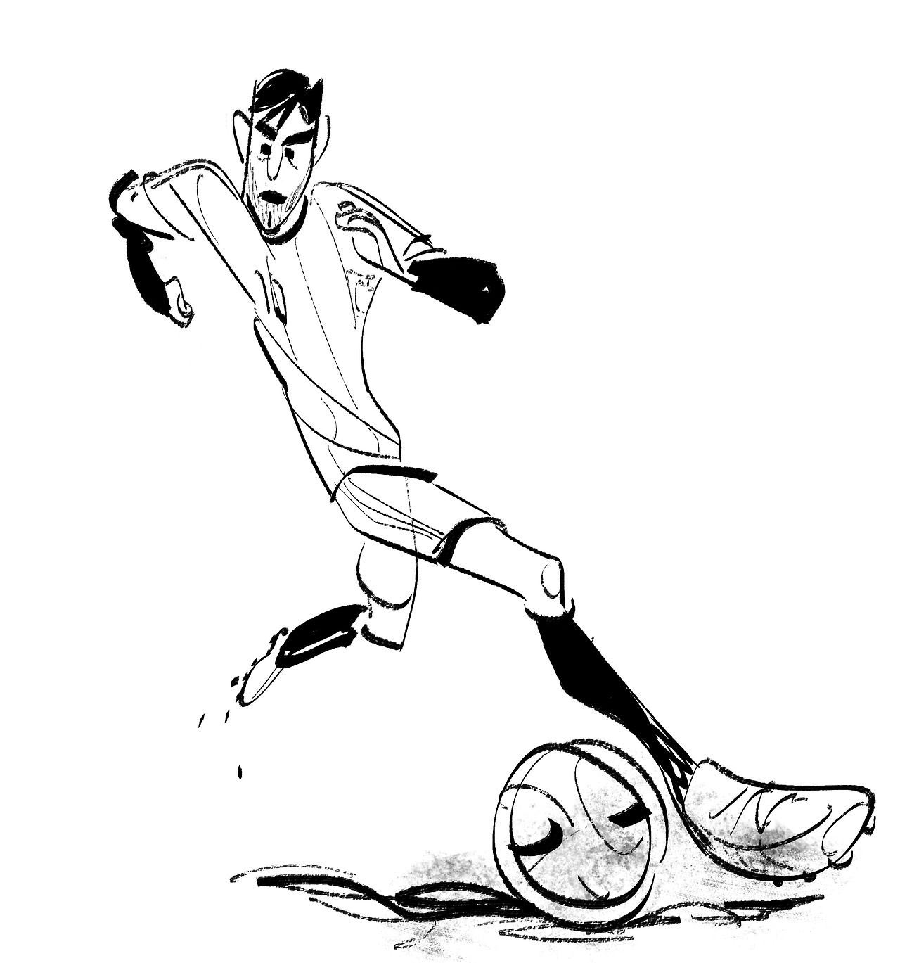draw a football player football player line drawing at getdrawings free download draw football player a