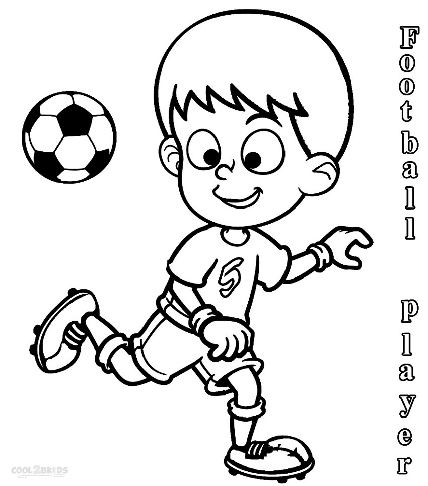 draw a football player football player standing drawing clipart panda free a draw football player