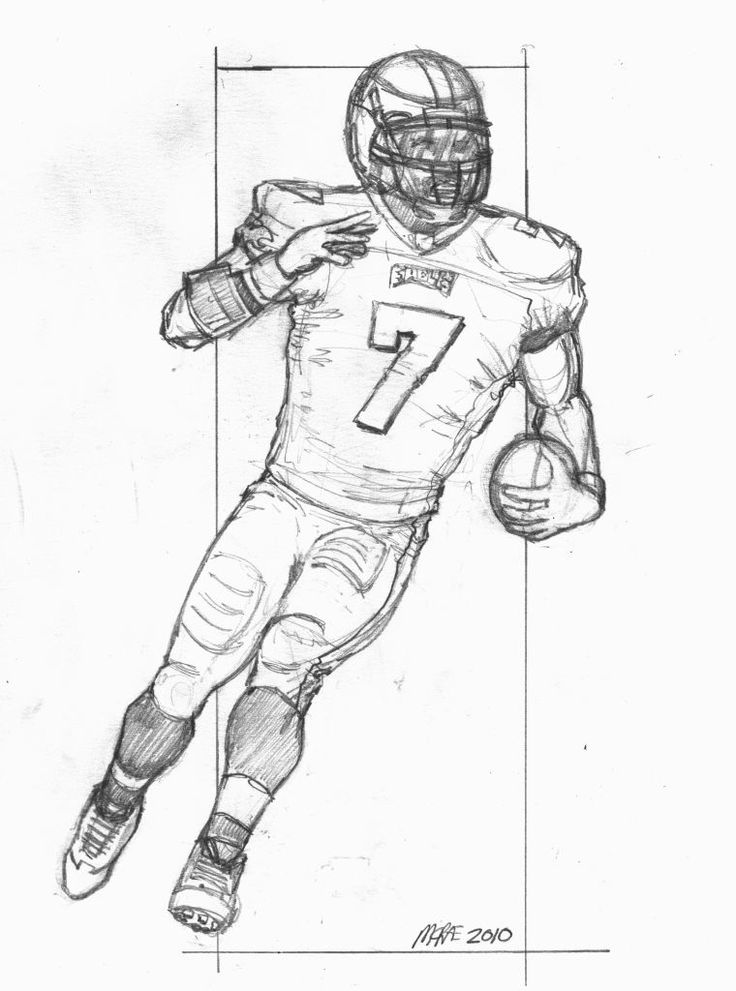 draw a football player how to draw a football player video step by step pictures draw a football player