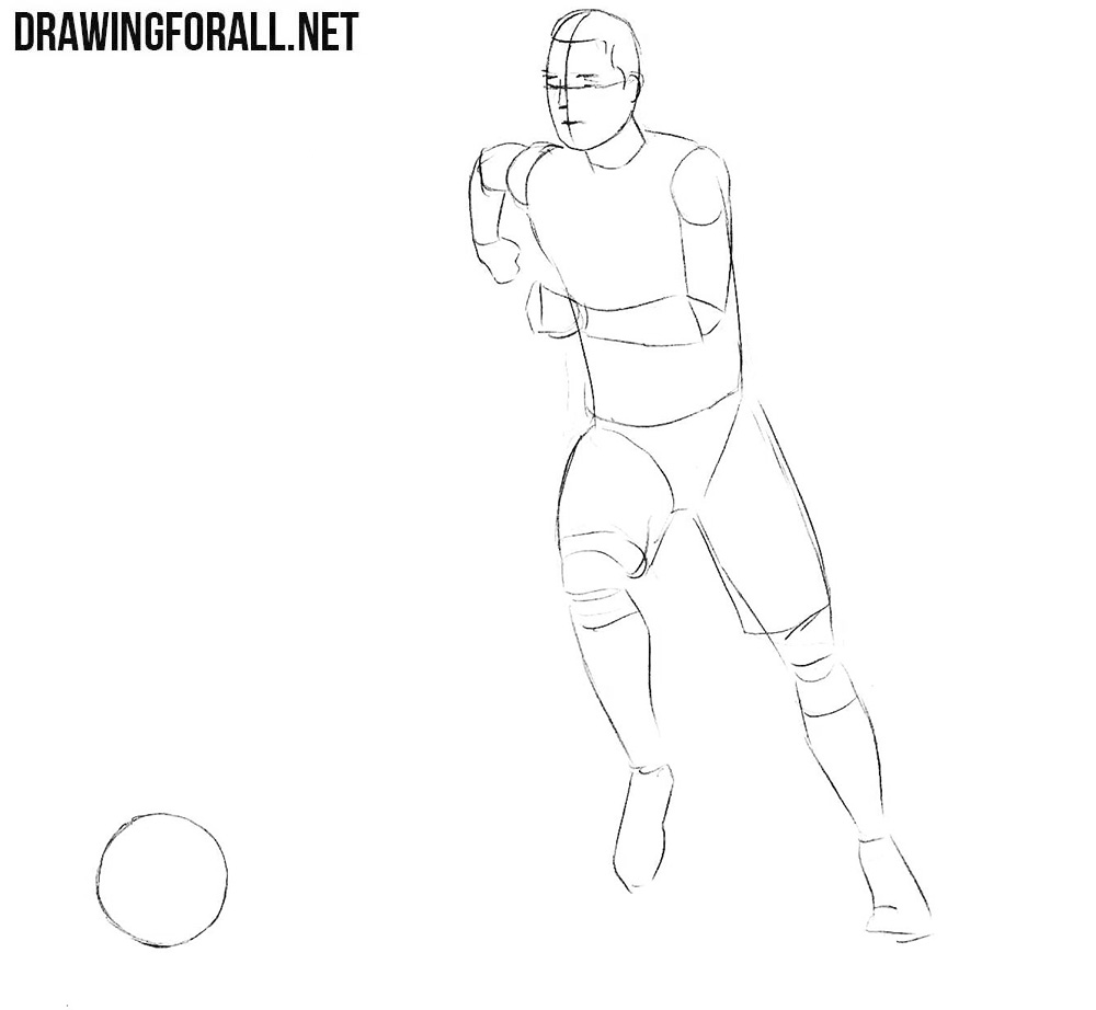 draw a football player nfl football players drawing at getdrawings free download a football draw player