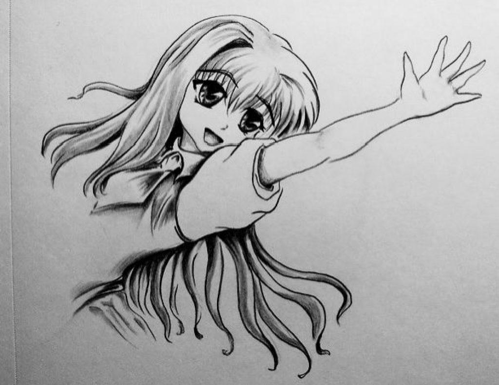 drawing anime girls how to draw anime girl character in action mai on girls drawing anime