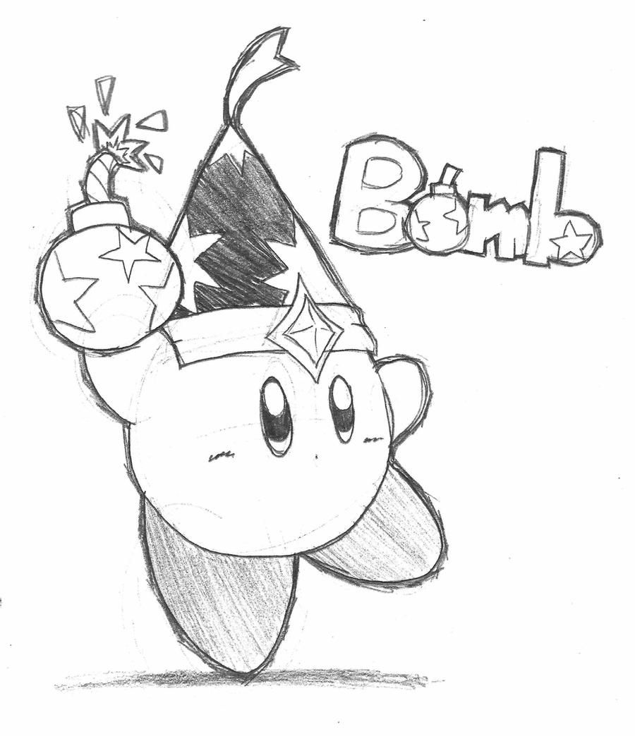 drawing kirby bomb kirby pencil by riodile on deviantart kirby drawing