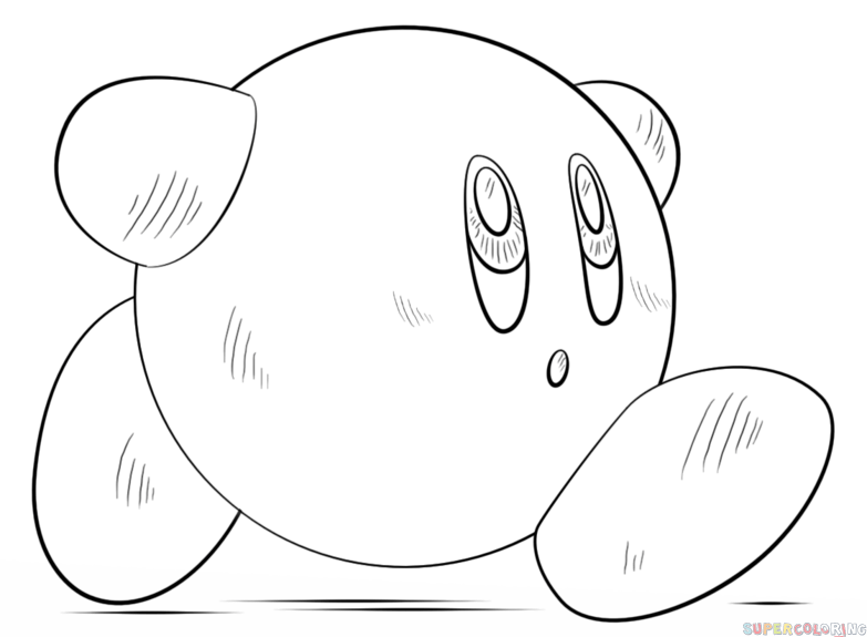 drawing kirby how to draw kirby step by step drawing tutorials for kids kirby drawing