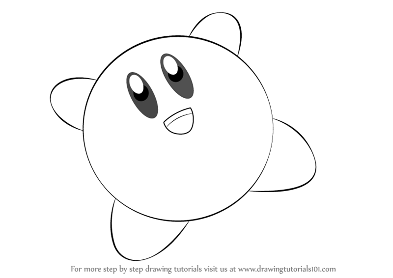 drawing kirby learn how to draw kirby from super smash bros super smash drawing kirby