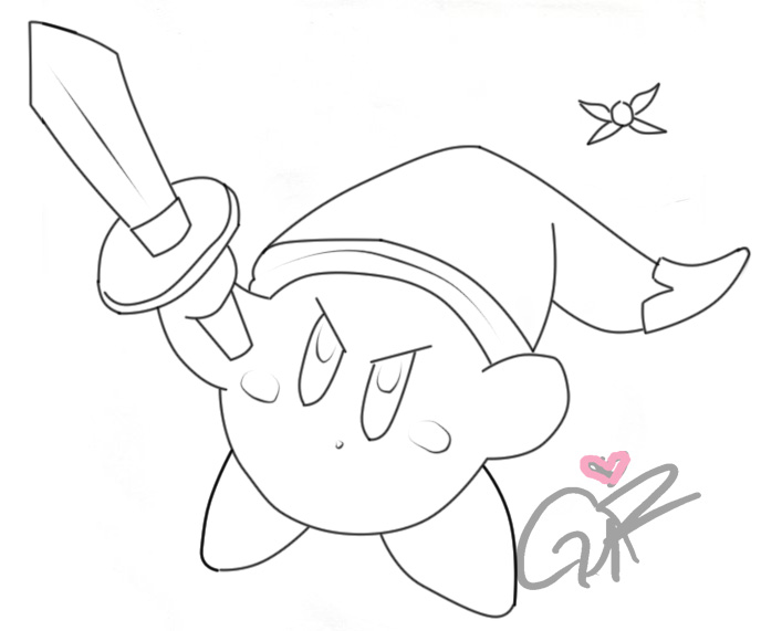 drawing kirby sonic hat kirby pencil sketch by th3antiguardian on drawing kirby