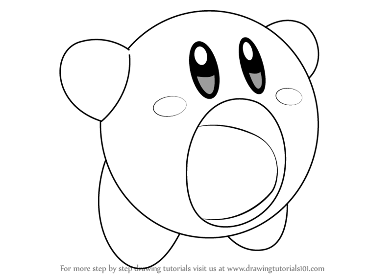 drawing kirby step by step how to draw yellow kirby from kirby kirby drawing