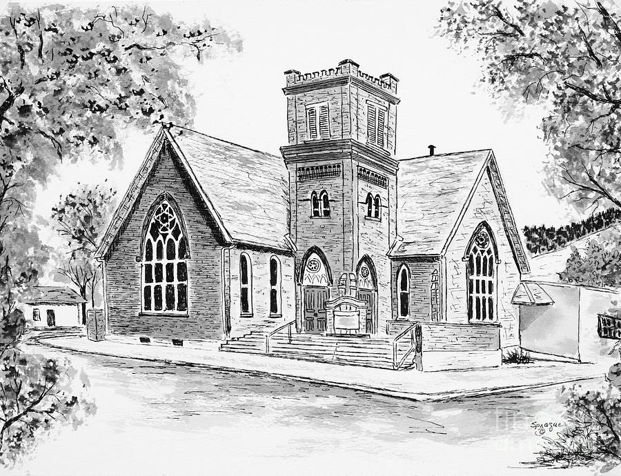 drawing of a church church clipart etc church of drawing a