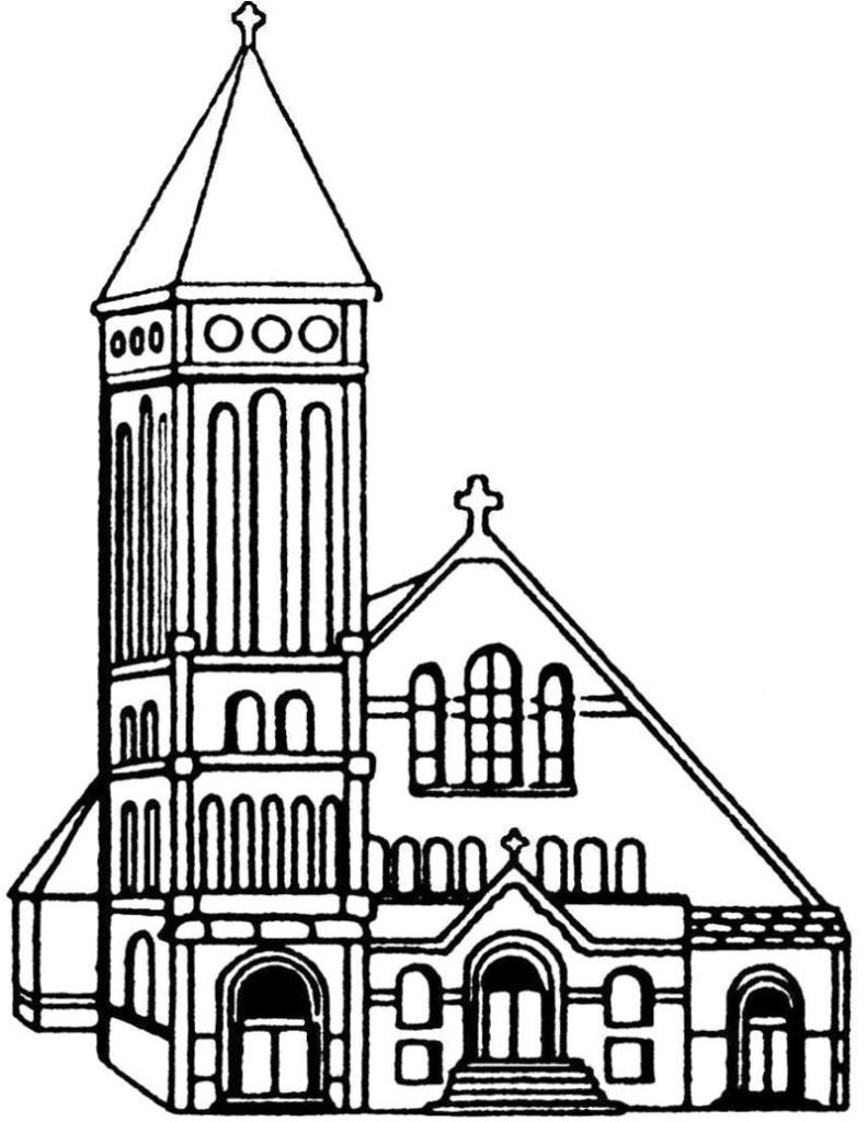 drawing of a church church drawing at getdrawings free download a drawing of church