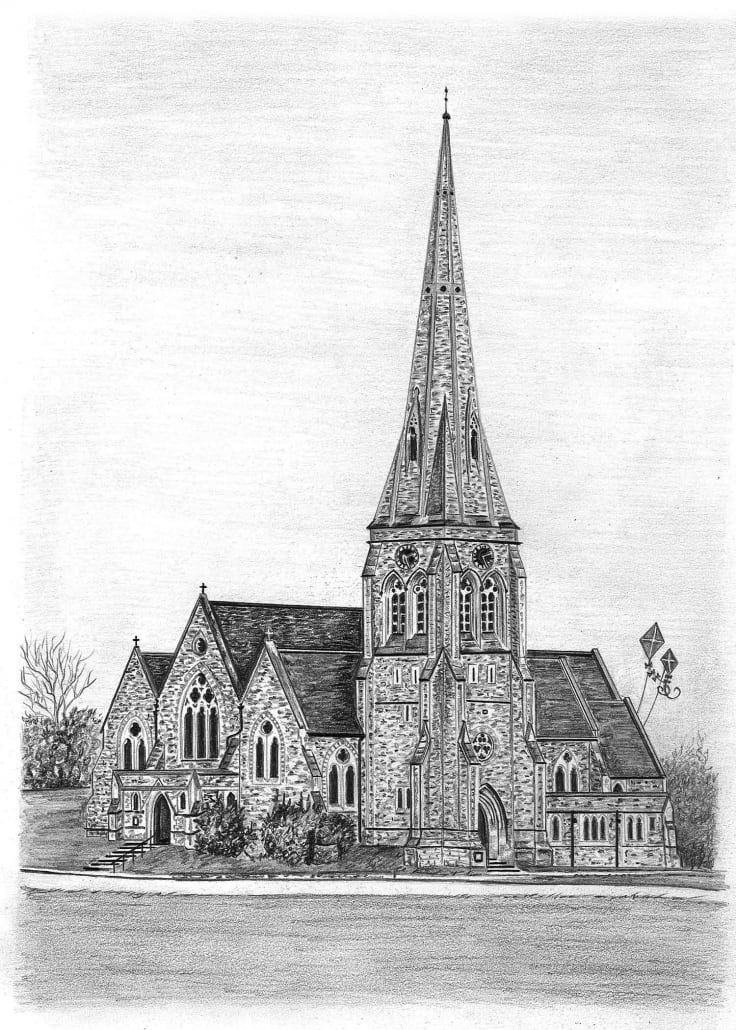 drawing of a church pencil sketch of church pencil sketch portraits of church a drawing
