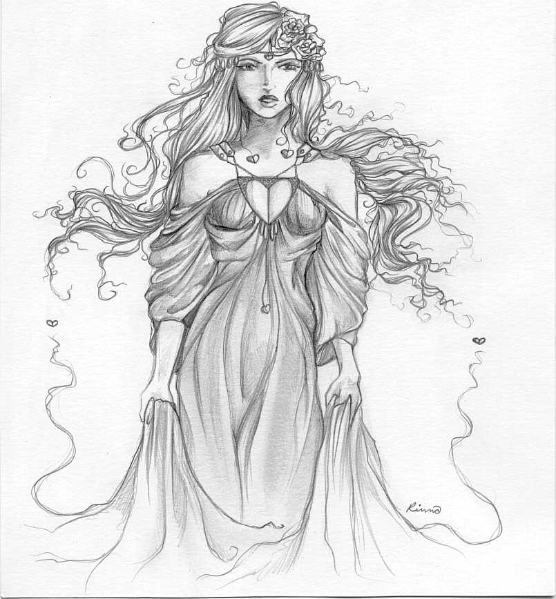 drawing of a goddess aphrodite by xxathenagoddessxx on deviantart of drawing a goddess