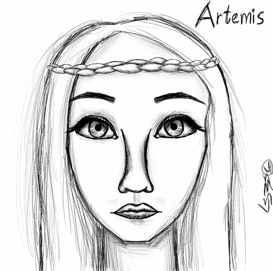 drawing of a goddess artemis goddess sketch by lilachsigal on deviantart drawing goddess of a