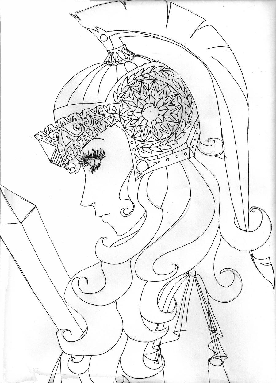 drawing of a goddess athena greek goddess easy drawings sketch coloring page goddess of a drawing