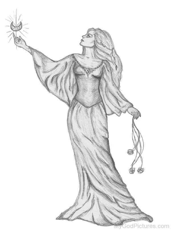 drawing of a goddess pencil sketch of goddess ishtary god pictures goddess drawing a of