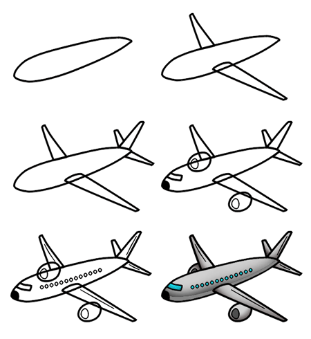 drawing of an airplane drawing a cartoon airplane airplane an drawing of