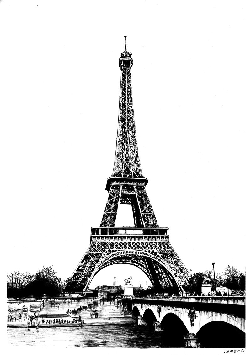 drawing of the eiffel tower 42 so beautiful eiffel tower drawing and sketches to try drawing eiffel of the tower