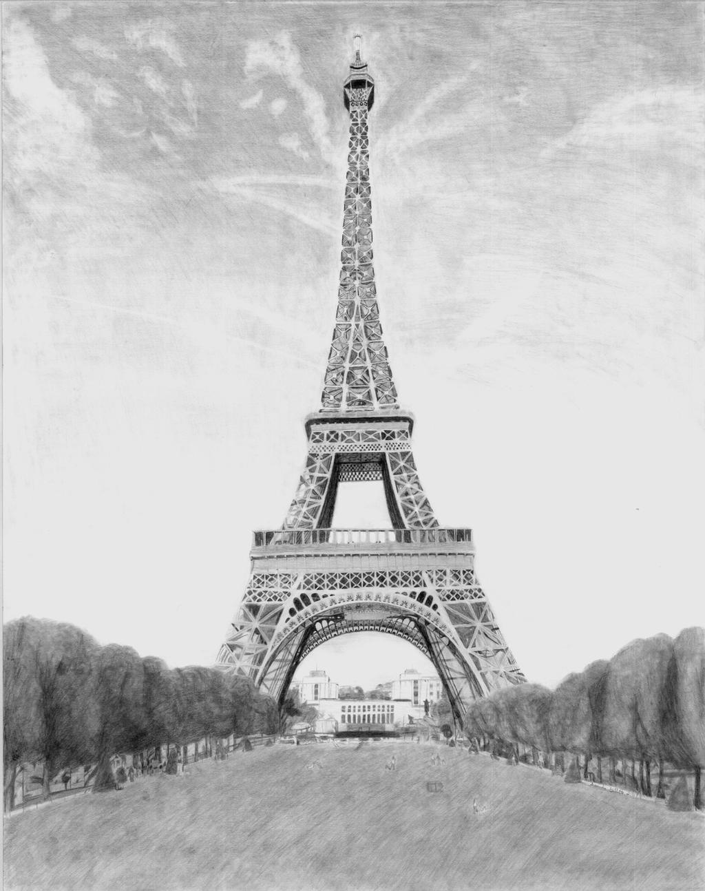 drawing of the eiffel tower cartoon drawing of the eiffel tower free download on eiffel of tower the drawing