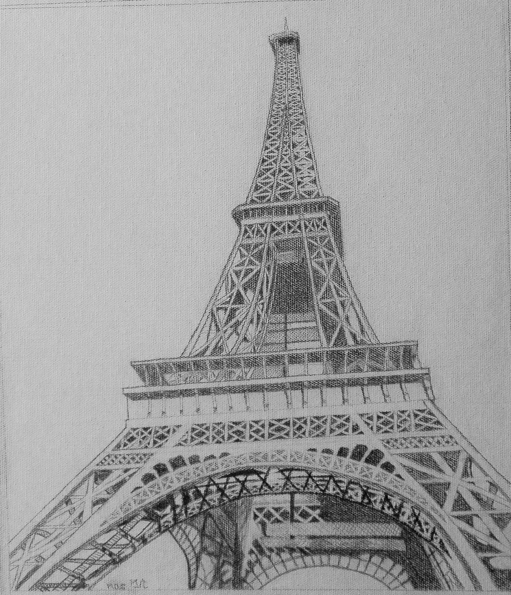 drawing of the eiffel tower eiffel tower black and white drawing at paintingvalleycom drawing of eiffel the tower