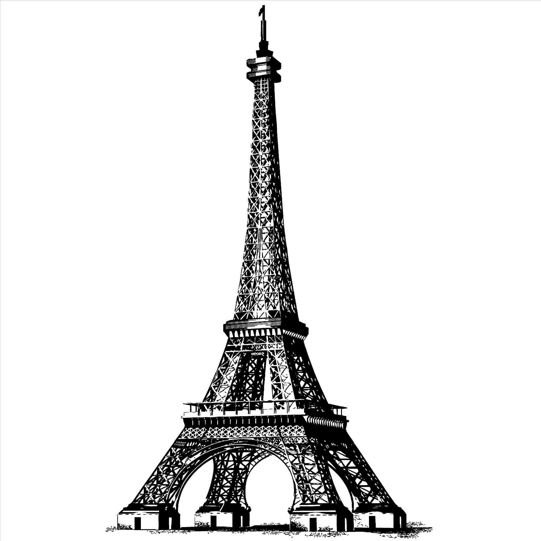 drawing of the eiffel tower eiffel tower picture vintage line drawing the graphics tower the drawing eiffel of